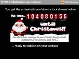 Make an HTML5 Christmas Countdown clock