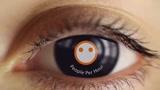 Make an eye reveal your logo