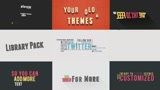 Animated Vintage Titles-kinetic Typography Packs